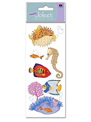 Ek Success A Touch Of Jolee'S Dimensional Stickers Sea Creatures Pack Of 9 [Pack Of 6] (6PK-358720/SPJJ160)