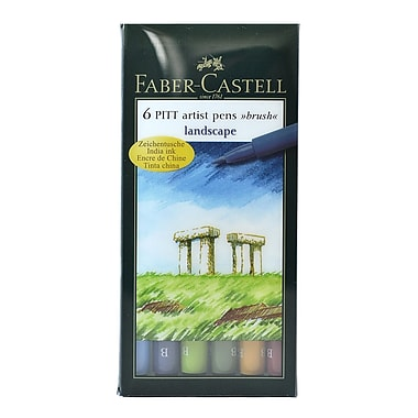 Faber-Castell Pitt Artist Brush Pen Sets Landscape [Pack Of 2] (2PK-167105)