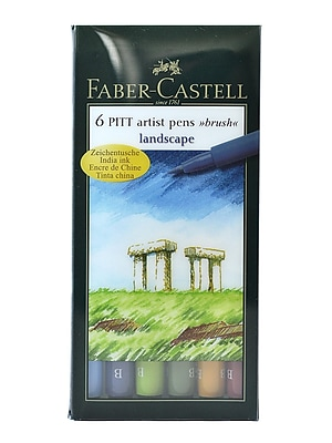 Faber-Castell Pitt Artist Brush Pen Sets Landscape [Pack Of 2] (2PK-167105)