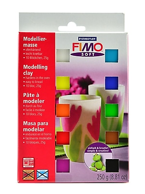 Fimo Soft Polymer Clay Assortments Set Of 10 (8023-01 07)