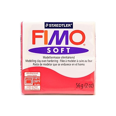 Fimo Soft Polymer Clay Cherry Red 2 Oz. [Pack Of 5] (5PK-8020-26 US)