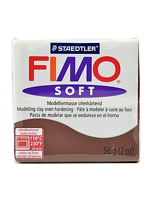 Fimo Soft Polymer Clay Chocolate 2 Oz. [Pack Of 5] (5PK-8020-75 US)