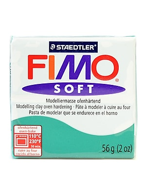 Fimo Soft Polymer Clay Emerald 2 Oz. [Pack Of 5] (5PK-8020-56 US)