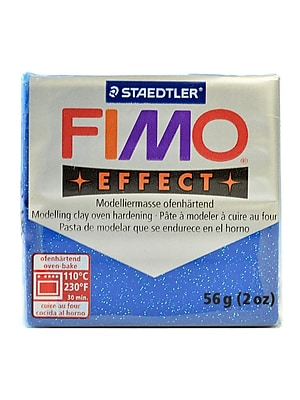 Fimo Soft Polymer Clay Glitter Blue 2 Oz. [Pack Of 5] (5PK-8020-302 US)