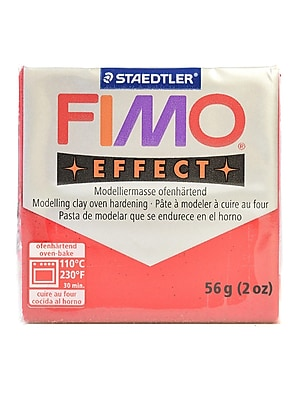 Fimo Soft Polymer Clay Glitter Red 2 Oz. [Pack Of 5] (5PK-8020-202US)