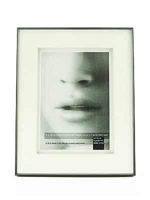Framatic Double Matted Fineline Aluminum Frames 8 In. X 10 In. 5 In. X 7 In. Opening (F0810BD14)