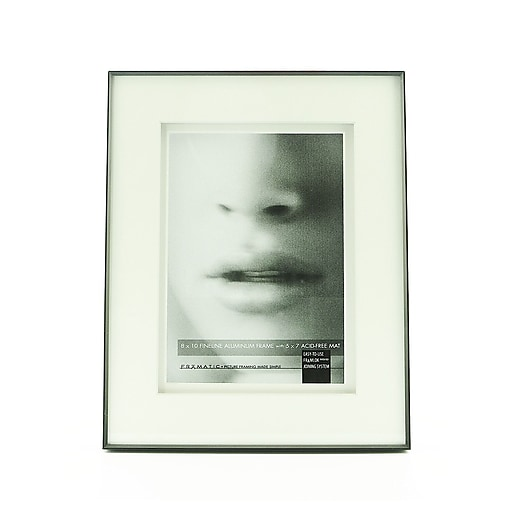 Framatic Double Matted Fineline Aluminum Frames 8 In X 10 In 5 In