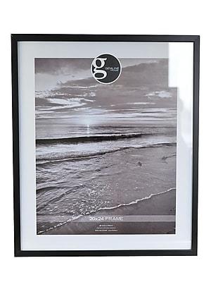 Gemline Frame All Purpose Solid Wood Frames Black 20 In. X 24 In. (099.002024BK)