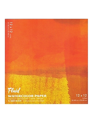 Global Art Fluid Cold Press Watercolor Paper 12 In. X 12 In. Block (881212)