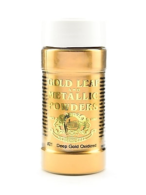 Gold Leaf And Metallic Co. Metallic And Mica Powders Deep Gold Oxidized 2 Oz. (GLMP-0021-002)