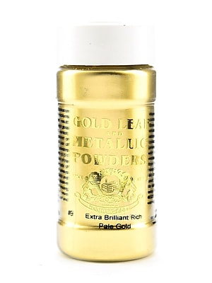 Gold Leaf And Metallic Co. Metallic And Mica Powders Extra Brilliant Rich Pale Gold 2 Oz. [Pack Of 2] (2PK-GLMP-0009-002)