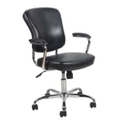 OFM Essentials Leather Computer and Desk Office Chair, Fixed Arms, Black (089191014348)
