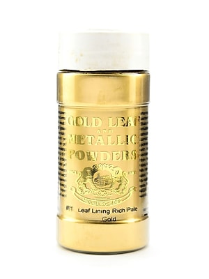 Gold Leaf And Metallic Co. Metallic And Mica Powders Leaf/Lining Rich Pale Gold 2 Oz. [Pack Of 2] (2PK-GLMP-0011-002)