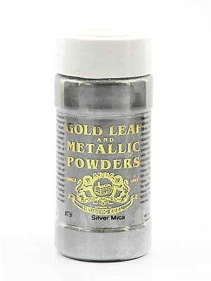 Gold Leaf And Metallic Co. Metallic And Mica Powders Silver Mica 1 Oz. [Pack Of 2] (2PK-GLMP-0079-001)
