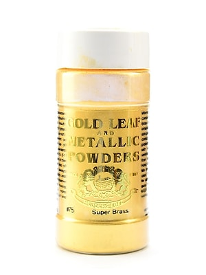 Gold Leaf And Metallic Co. Metallic And Mica Powders Super Brass Mica 1 Oz. [Pack Of 2] (2PK-GLMP-0075-001)