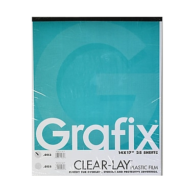 Grafix Clear-Lay Acetate Alternative 0.003 In. 14 In. X 17 In. Pad Of 25 (P03CV1417)