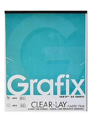 Grafix Clear-Lay Acetate Alternative 0.003 In. 14 In. X 17 In. Pad Of 25 (P03CV1417)