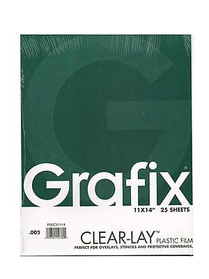 Grafix Clear-Lay Acetate Alternative 0.005 In. 11 In. X 14 In. Pad Of 25 (P05CV1114)