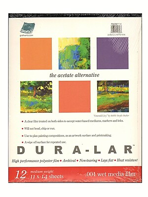 Grafix Dura-Lar Acetate Alternative Wet Media Pads 14 In. X 17 In. Pad Of 12 (P04DW1417)
