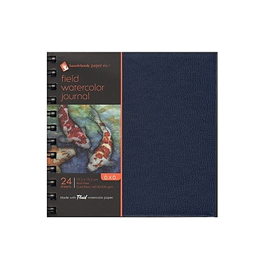 Hand Book Journal Co. Field Watercolor Journals 6 In. X 6 In. 24 Sheets [Pack Of 2] (2PK-780066)