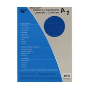 Headline Blue Vinyl Stick-On Letters 3/4 In. Helvetica Capitals And Numbers [Pack Of 4] (4PK-31914)