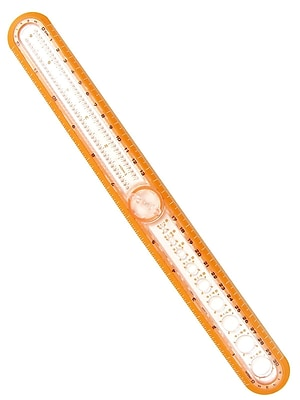 Helix 12 In. Circle Ruler Ruler/Compass [Pack Of 12] (12PK-36001)