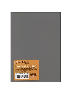 Jack Richeson Unmounted Easy-To-Cut Linoleum 5 In. X 7 In. [Pack Of 4] (4PK-799004)