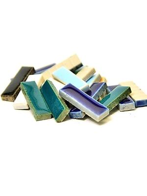 Jennifer'S Mosaics Deco Ceramic Mosaic Tiles Assorted Rectangles [Pack Of 4] (4PK-MS720J)