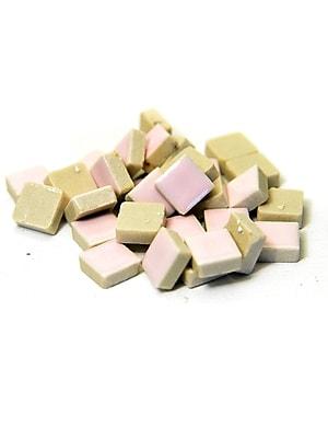 Jennifer'S Mosaics Deco Ceramic Mosaic Tiles Pink Square [Pack Of 4] (4PK-MS700J)
