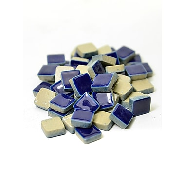 Jennifer'S Mosaics Deco Ceramic Mosaic Tiles Royal Blue Square [Pack Of 4] (4PK-MS706J)