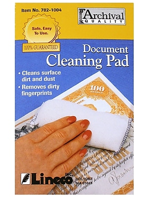 Lineco Document Cleaning Pads Each [Pack Of 2] (2PK-782-1004)