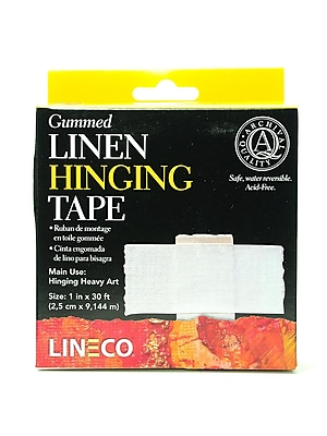 Lineco Gummed Linen Tape 1 In. X 30 Ft. (L533-1025)