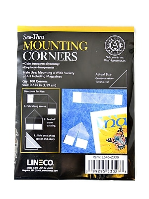 Lineco See-Thru Mounting Corners Pack Of 100 [Pack Of 2] (2PK-L545-2336)