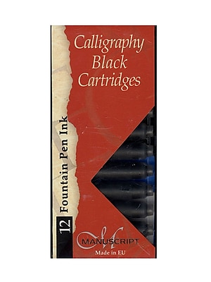 Manuscript Calligraphy Ink Cartridges Black Pack Of 12 [Pack Of 6] (PK6-MC0461CB)