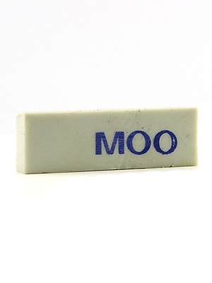 Martin/Universal Moo Erasers Small 26 G [Pack Of 30] (30PK-MOO-200)