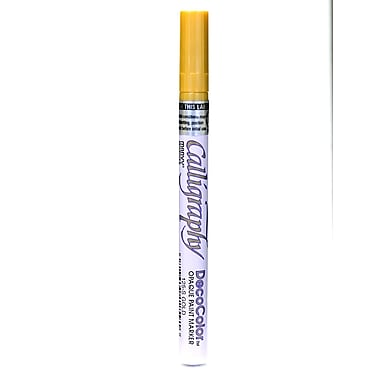 Marvy Uchida Decocolor Calligraphy Paint Markers Metallic Gold [Pack Of 6] (6PK-125-S-GLD)