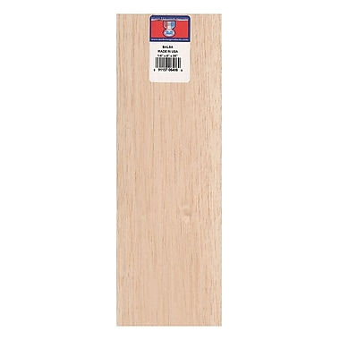 Midwest Balsa Sheets 1/4 In. 4 In. X 36 In. [Pack Of 5] (5PK-6406)
