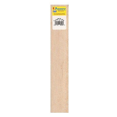 Midwest Balsa Sheets 3/32 In. 2 In. X 36 In. [Pack Of 10] (10PK-6203)
