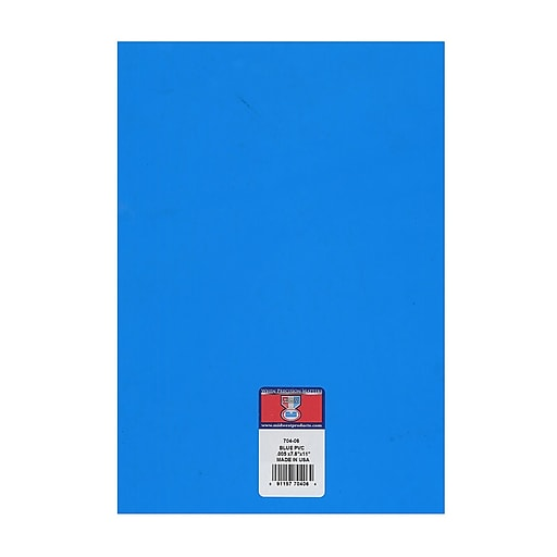 Midwest Clear Colored Pvc Sheets .005 In./.15 Mm Blue [Pack Of 8 ...