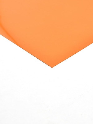 Midwest Clear Colored Pvc Sheets .005 In./.15 Mm Orange [Pack Of 8] (8PK-704-02)
