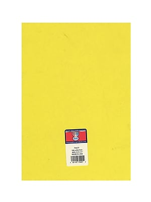 Midwest Clear Colored Pvc Sheets .005 In./.15 Mm Yellow [Pack Of 8] (8PK-704-01)