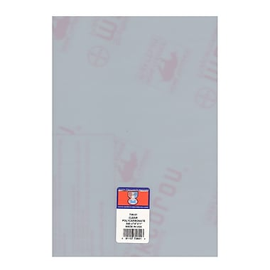Midwest Clear Polycarbonate Sheets 0.040 In./1.00 Mm 7.6 In. X 11 In. [Pack Of 2] (2PK-706-01)