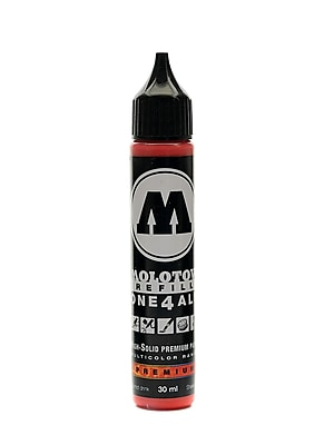 Molotow One4All Acrylic Paint Marker Refill Traffic Red 30 Ml 013 [Pack Of 3] (3PK-693.013)