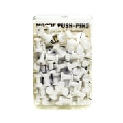 Moore Push Pins White Plastic Pack Of 100 [Pack Of 3] (3PK-2P-100-WE)