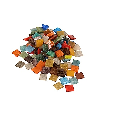 Mosaic Mercantile Solid Color Vitreous Glass Mosaic Tile Assorted 3/8 In. 1/6 Lb. Bag [Pack Of 6] (6PK-ASTMINI 1/6)