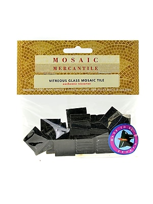 Mosaic Mercantile Solid Color Vitreous Glass Mosaic Tile Black 3/4 In. Pack Of 24 [Pack Of 6] (6PK-BLK24)