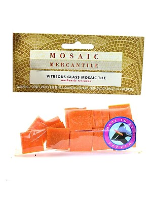 Mosaic Mercantile Solid Color Vitreous Glass Mosaic Tile Tangerine 3/4 In. Pack Of 24 [Pack Of 6] (6PK-TAN24)