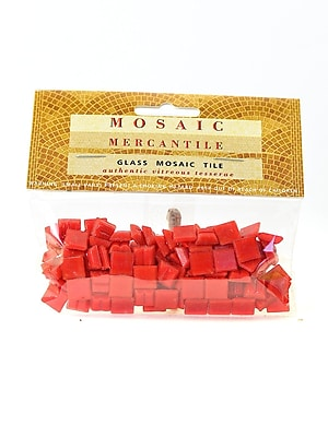 Mosaic Mercantile Solid Color Vitreous Glass Mosaic Tile Tomato Red 3/8 In. 1/6 Lb. Bag [Pack Of 6] (6PK-TOMMINI1/6)
