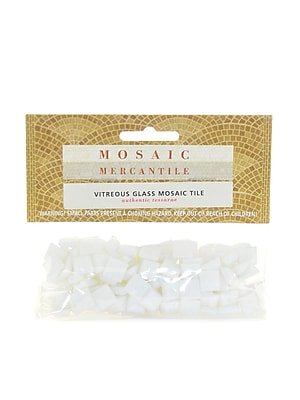 Mosaic Mercantile Solid Color Vitreous Glass Mosaic Tile White 3/8 In. 1/6 Lb. Bag [Pack Of 6] (6PK-WHIMINI 1/6)