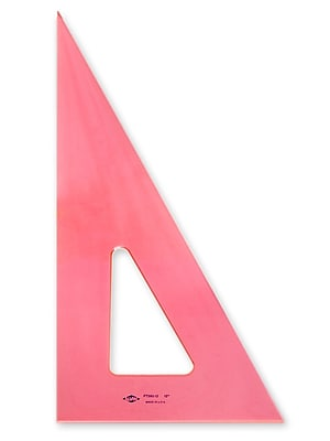 Pacific Arc Professional Fluorescent Triangles 12 In. 30/60 Degrees [Pack Of 3] (3PK-2030F-12)